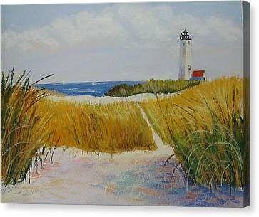 Path To Lighthouse Canvas Print