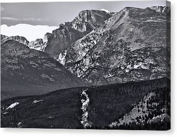 Canvas Print featuring the photograph Path To Longs Peak by Dan Sproul