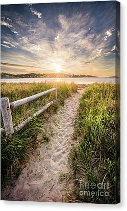 Path To Popham Canvas Print by Benjamin Williamson