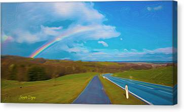 Vista Canvas Print - Path To Rainbow - Da by Leonardo Digenio