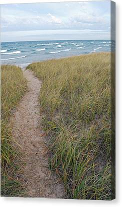 Path To The Beach Canvas Print by Twenty Two North Photography