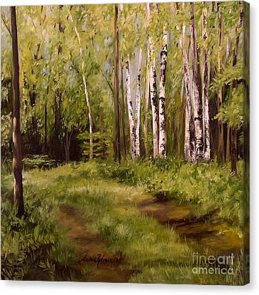 Path To The Birches Canvas Print