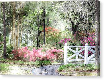 Path To The Bridge Canvas Print by Donna Bentley