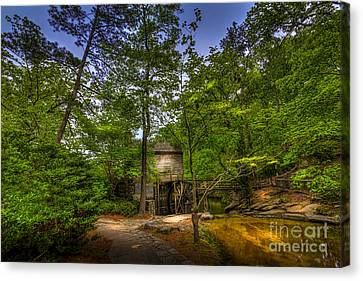Senior Walk Canvas Print - Path To The Mill by Marvin Spates