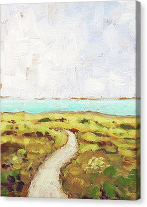 Path To The Sea Canvas Print by Clary Sage Moon