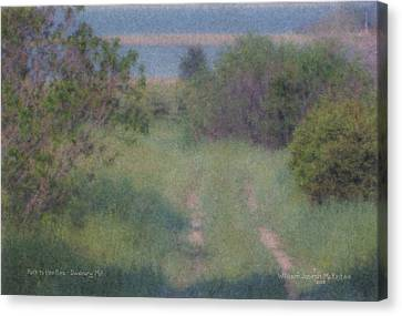 Path To The Sea - Duxbury Ma Canvas Print