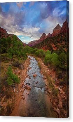 Path To Zion Canvas Print by Darren White