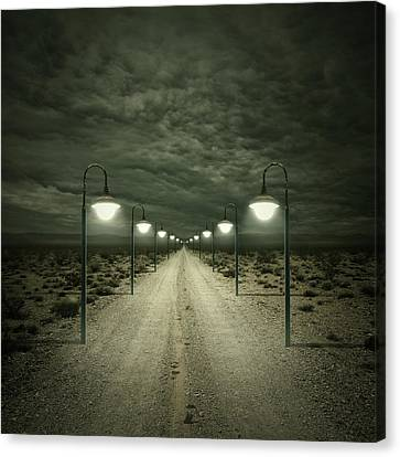 Street Lights Canvas Print - Path by Zoltan Toth