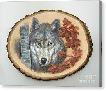 Wolf - Paths To Balance Canvas Print by Brandy Woods