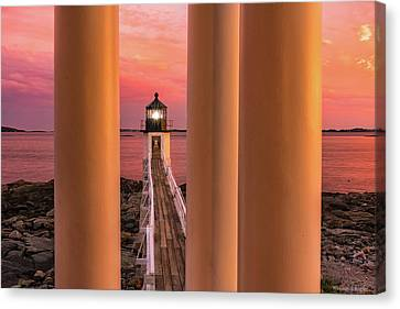 Mid-coast Maine Canvas Print - Marshall Point - Beacon Of Light by Expressive Landscapes Fine Art Photography by Thom