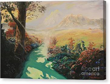 Inner Self Canvas Print - Pathway To Peace by Rich Donadio