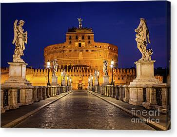 Pathway To Sant'angelo Canvas Print by Inge Johnsson