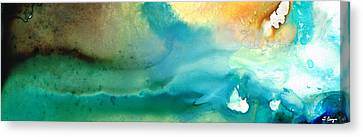 Abstract Art Canvas Print - Pathway To Zen by Sharon Cummings