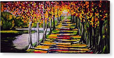 Pathyway To The Light Canvas Print