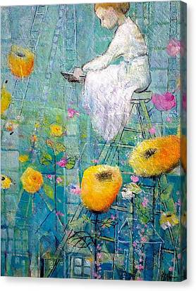Canvas Print featuring the painting Patience by Eleatta Diver