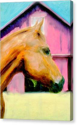 Canvas Print featuring the painting Patience by FeatherStone Studio Julie A Miller