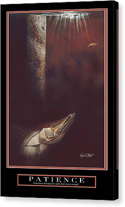 Patience Canvas Print by Kevin Brant