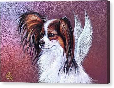 Patient Angel  Canvas Print by Elena Kolotusha