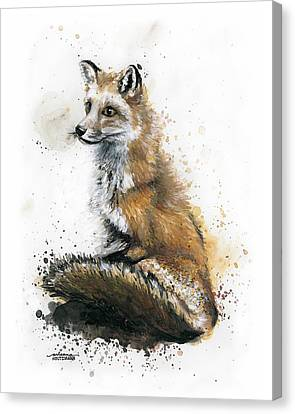 Patiently Waiting Canvas Print by Arleana Holtzmann
