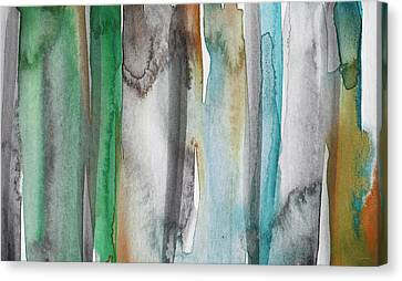 Patina- Abstract Art By Linda Woods Canvas Print by Linda Woods
