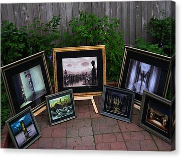 Patio Art Show Canvas Print