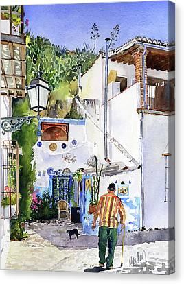 Patio In Sacromonte Granada Canvas Print