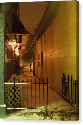 Canvas Print - Patio In The Snow by Anna Villarreal Garbis