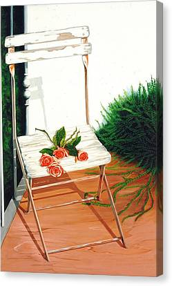 Patio Rose, Prints From Original Oil Paintings Canvas Print