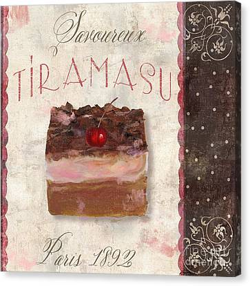 Patisserie Tiramasu  Canvas Print by Mindy Sommers