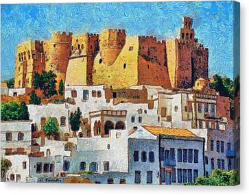 Patmos Canvas Print by George Rossidis