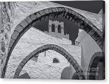 Patmos Monastery Arches Canvas Print