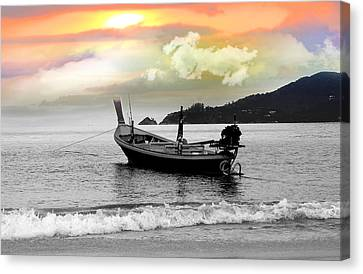 Patong Beach Canvas Print by Mark Ashkenazi