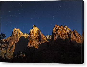 Patriarchs Under The Stars Canvas Print by Andrew Soundarajan