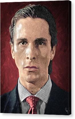 Patrick Bateman - American Psycho Canvas Print by Taylan Apukovska