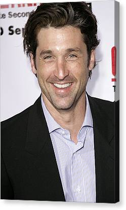 Patrick Dempsey At Arrivals For Greys Canvas Print by Everett