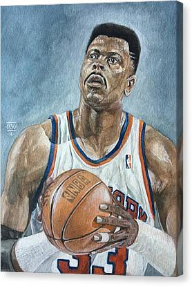 Patrick Ewing Canvas Print by Nigel Wynter