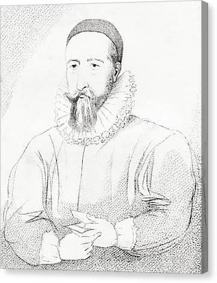 Patrick Hamilton, 1504 Canvas Print by Vintage Design Pics