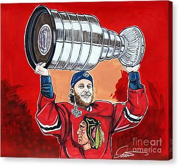 Patrick Kane Stanley Cup Champion 2015 Canvas Print by Dave Olsen