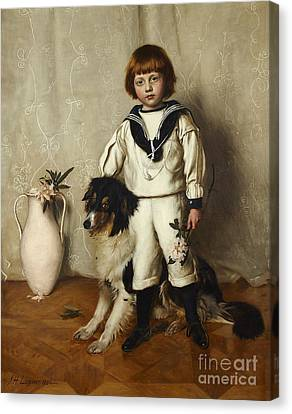 Scottish Dog Canvas Print - Patrick, Son Of Sir David Chalmers by Celestial Images