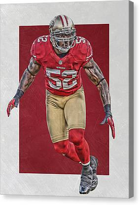 Patrick Willis San Francisco 49ers Art Canvas Print by Joe Hamilton