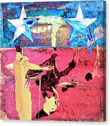 Canvas Print featuring the painting Patriot Act by Dominic Piperata