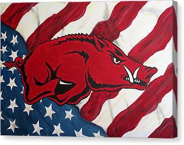 Patriot Hog Canvas Print by Nathan Grisham