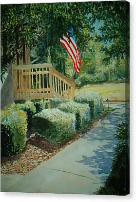 Patriot Next Door Canvas Print by Shirley Braithwaite Hunt