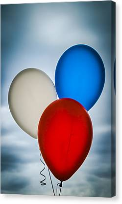 Canvas Print featuring the photograph Patriotic Balloons by Carolyn Marshall
