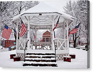 Patriotic Bandstand Canvas Print by Susan Cole Kelly