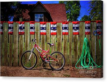 Canvas Print featuring the photograph Patriotic Bicycle by Craig J Satterlee