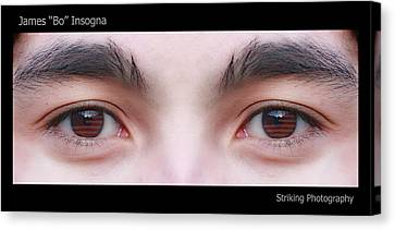 Patriotic Eyes - Poster Canvas Print by James BO  Insogna