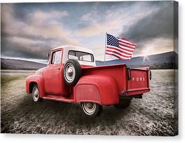 Patriotic Ford Canvas Print