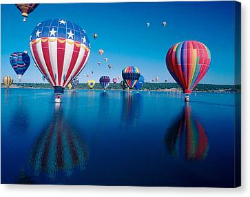 Patriotic Hot Air Balloon Canvas Print by Jerry McElroy