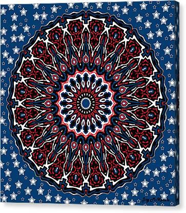 4th July Canvas Print - Patriotic Mandala by Joy McKenzie